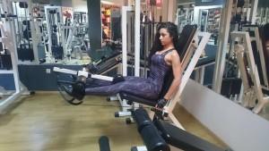 Любов Бабалеева-тренировка на крака