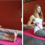 Натоварване на гръбната мускулатура с ластици за фитнес