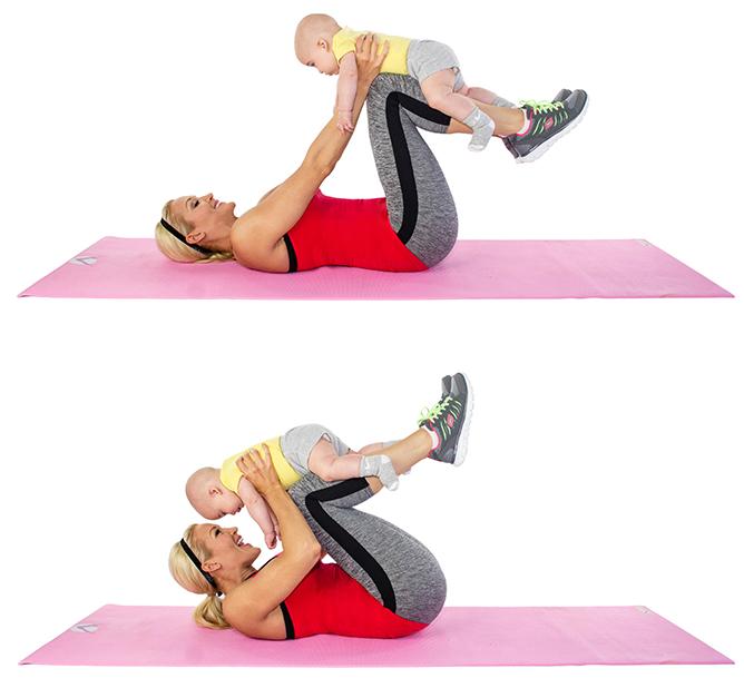 тренировка за корем с бебе