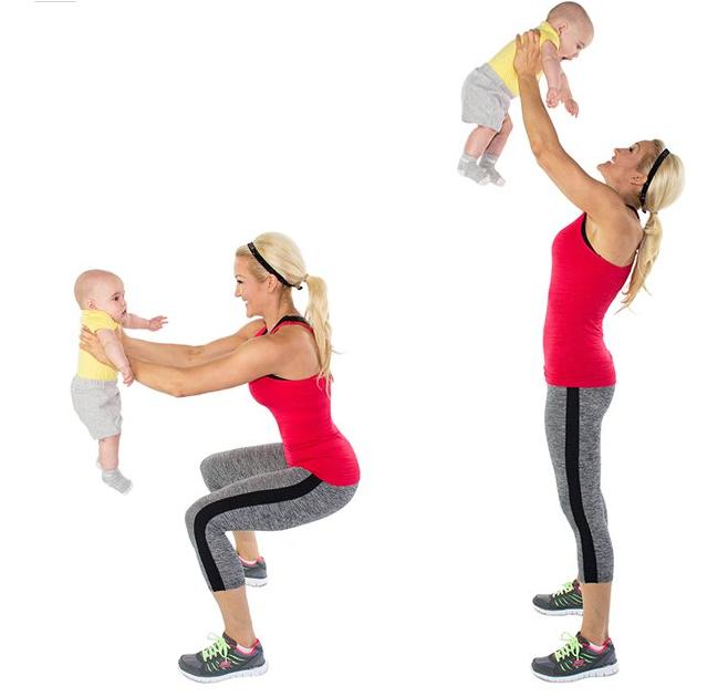 тренировка за рамо с бебе