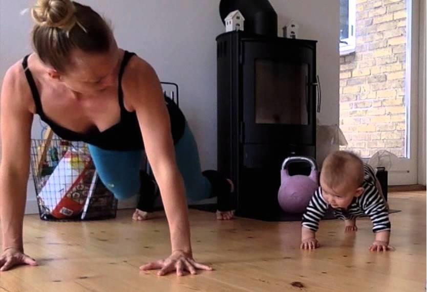 тренировка с бебе