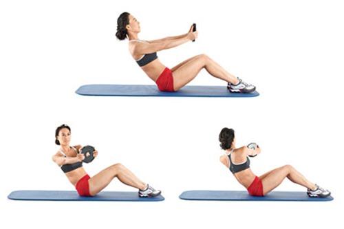 коремни преси с ротация и упражнения за корем