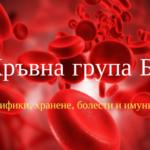 Хранене според кръвната група Б