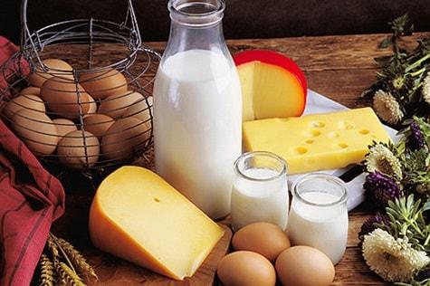 кръвна група А храни: Яйца и млечни продукти