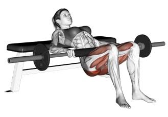 Тренировка за стегнато дупе (глутеус). Хип тръст упражнение за тренировка на глутеус (дупе)