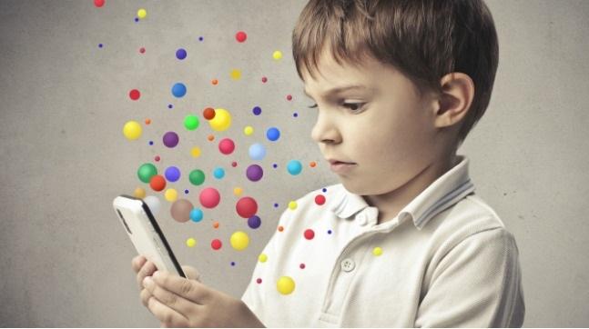 използване на телефони и таблети от деца