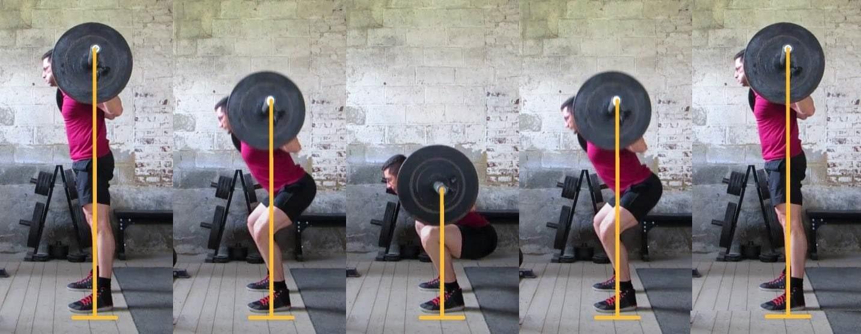 Техника при клек с щанга на рамене